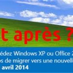 Fin du support de Windows XP depuis avril 2014