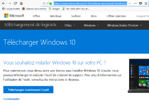 Migration / Upgrade de Windows Vista, 7 ou 8 vers Windows 10