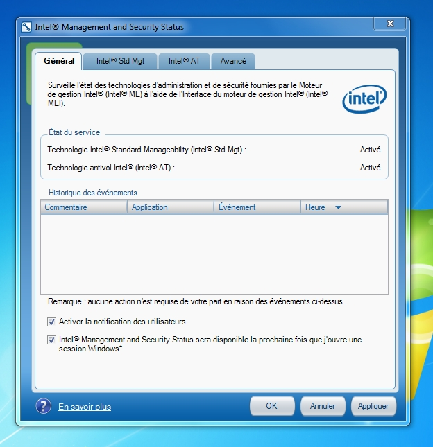 Intel Management and Security Status - Antivol