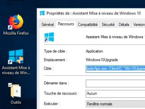 Déclencher l'Assistant de Mise à niveau de Windows 10
