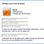 Gestion des mots de passe Windows