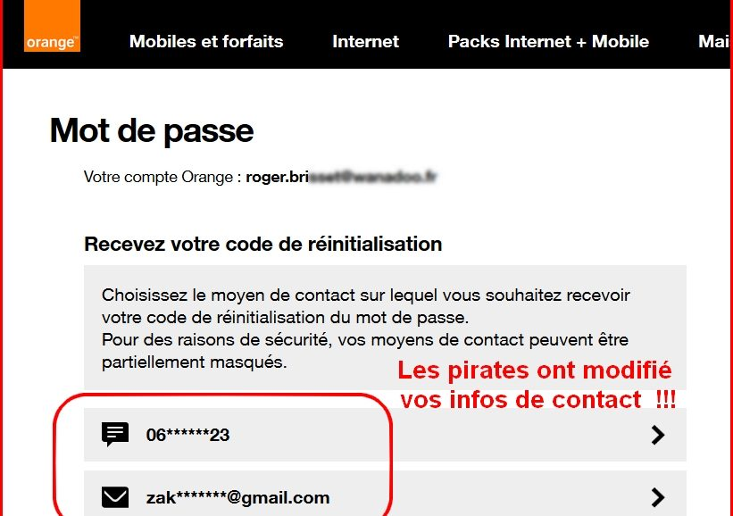Orange piratage de compte